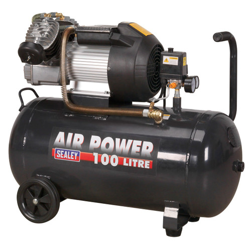 Buy Sealey SAC10030VE Compressor 100 Litre V-Twin Direct Drive 3HP at Toolstop