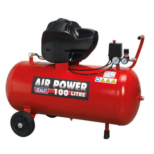 Buy Sealey SAC10030F Compressor 100ltr V-Twin Belt Drive 3hp Oil Free at Toolstop