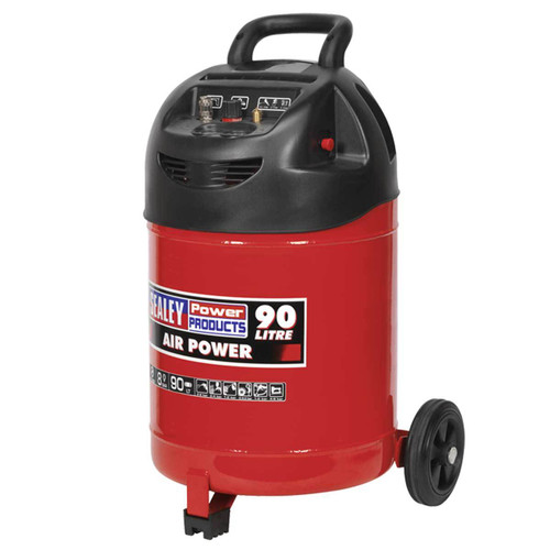 Buy Sealey SAC03290 Compressor 90ltr Belt Drive 1.5hp Oil Free at Toolstop