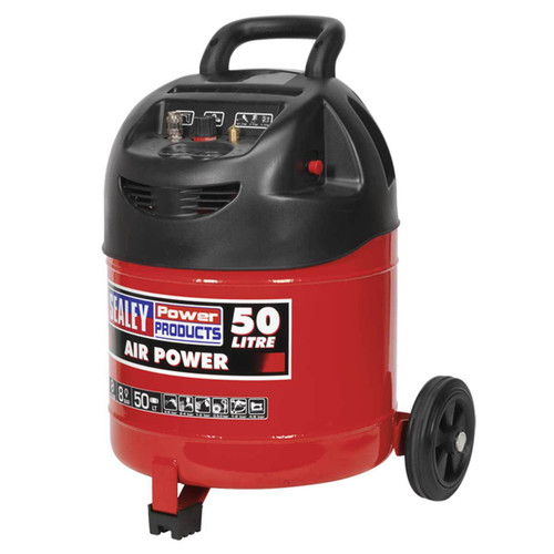 Buy Sealey SAC03250 Compressor 50ltr Belt Drive 1.5hp Oil Free at Toolstop