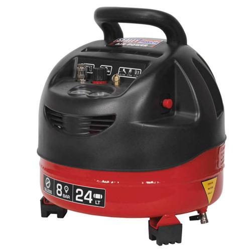 Buy Sealey SAC03224 Compressor 24ltr Belt Drive 1.5hp Oil Free at Toolstop