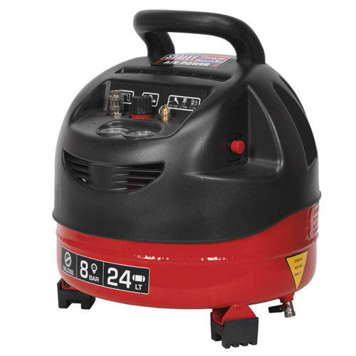 Buy Sealey SAC03224 Compressor 24ltr Belt Drive 1.5hp Oil Free at Toolstop