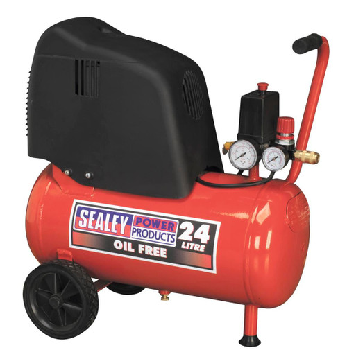 Buy Sealey SAC02415 Compressor 24ltr Belt Drive 1.5hp Oil Free at Toolstop