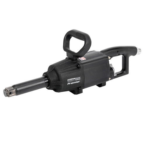 """Buy Sealey SA687 Air Impact Wrench 1""""sq Drive Twin Hammer Straight Long Anvil at Toolstop"""