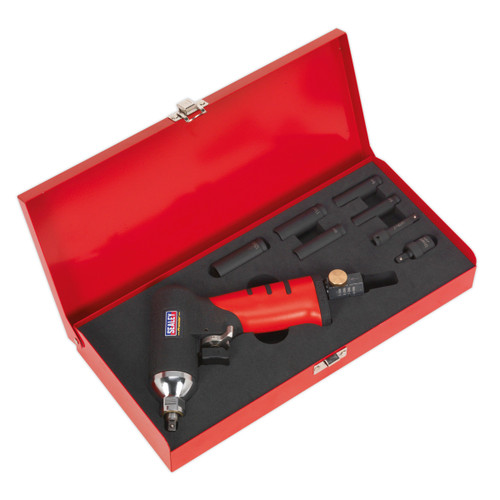 """Buy Sealey SA141 Air Impact Wrench 1/4""""sq Drive Diesel Glow Plug Kit at Toolstop"""
