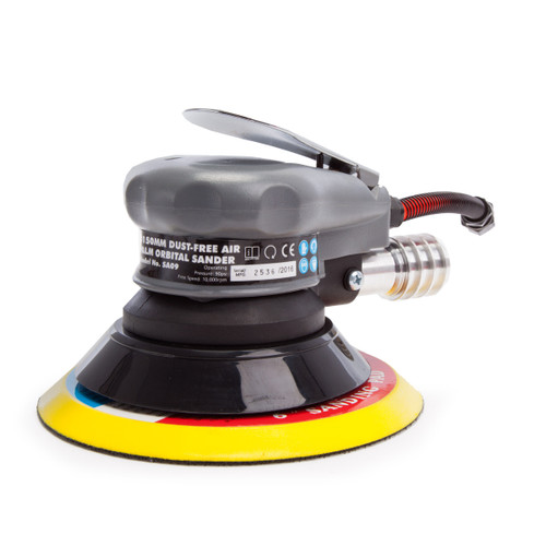 Sealey SA09 Air Palm Orbital Sander 150mm Dust-Free - 2