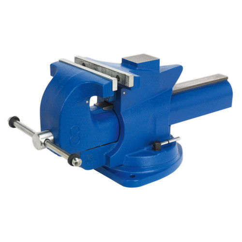 Buy Sealey QAV200 Vice 200mm Quick Action Swivel Base Cast Iron at Toolstop