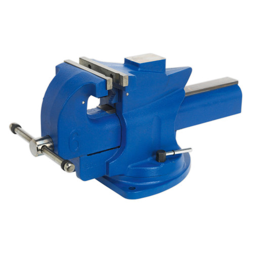 Buy Sealey QAV150 Vice 150mm Quick Action Swivel Base Cast Iron at Toolstop