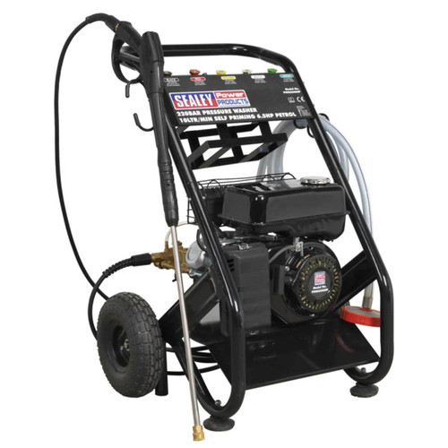 Buy Sealey PWM2500SP Petrol Pressure Washer 220 Bar 10ltr/min Self Priming 6.5hp  at Toolstop