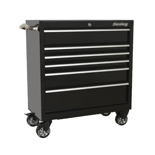 Buy Sealey PTB93006 Rollcab 6 Drawer 930mm Heavy-Duty Black at Toolstop