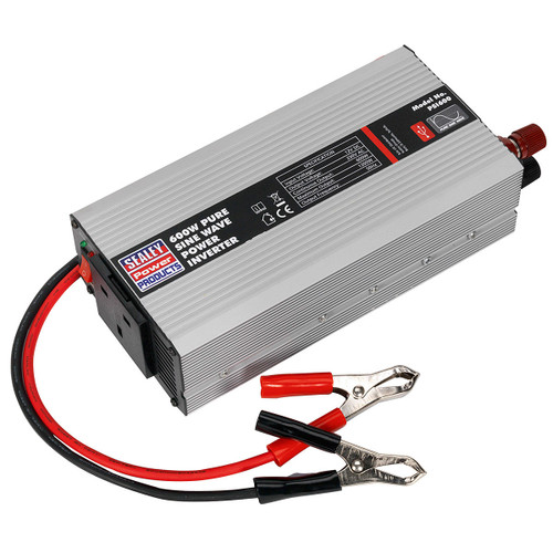 Sealey PSI600 Power Inverter Pure Sine Wave 600w 12v Dc - 240v 50hz - 1