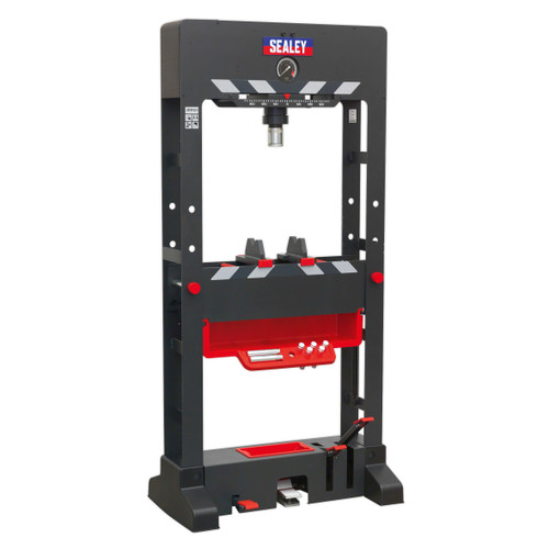 Buy Sealey PPF301 Premier Air/Hydraulic Press 30tonne Floor Type With Sliding Ram And Foot Pedal at Toolstop