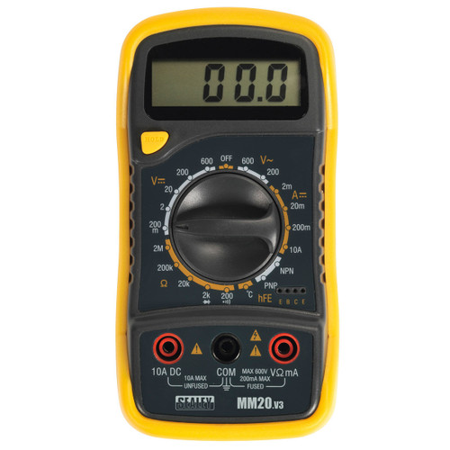 Buy Sealey MM20 Digital Multimeter 8 Function With Thermocouple at Toolstop