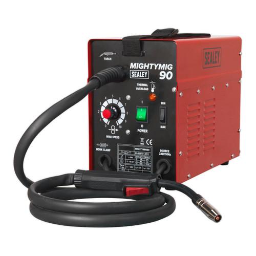 Buy Sealey MIGHTYMIG90 Professional No-Gas Mig Welder 90A 240V at Toolstop