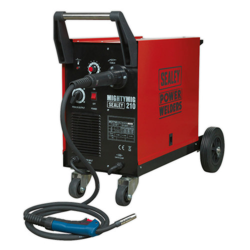 Buy Sealey MIGHTYMIG210 Professional Gas/No-Gas Mig Welder 210amp With Euro Torch at Toolstop