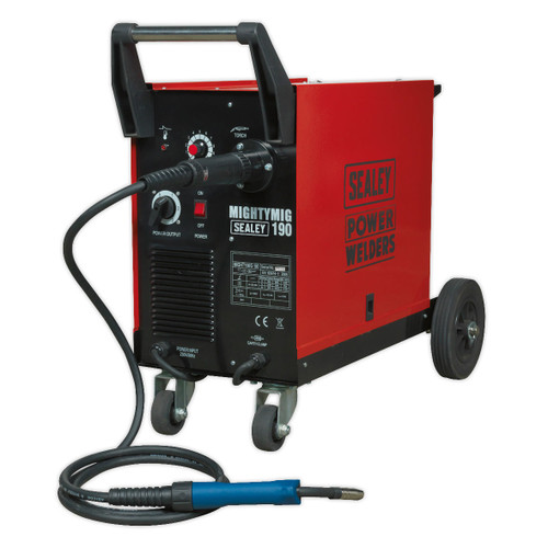 Buy Sealey MIGHTYMIG190 Professional Gas/No-Gas Mig Welder 190amp With Euro Torch at Toolstop