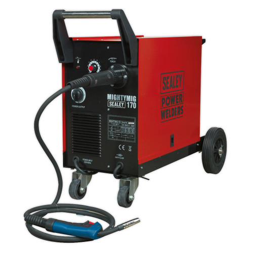 Buy Sealey MIGHTYMIG170 Professional Gas/No-Gas Mig Welder 170amp With Euro Torch at Toolstop