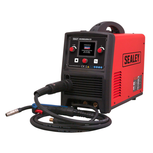 Buy Sealey INVMIG200LCD Inverter Welder MIG, TIG & MMA 200Amp With LCD Screen at Toolstop