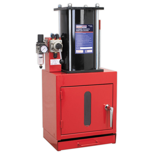 Buy Sealey HCC08 Pneumatic Paint Can Crusher 2.2tonne at Toolstop