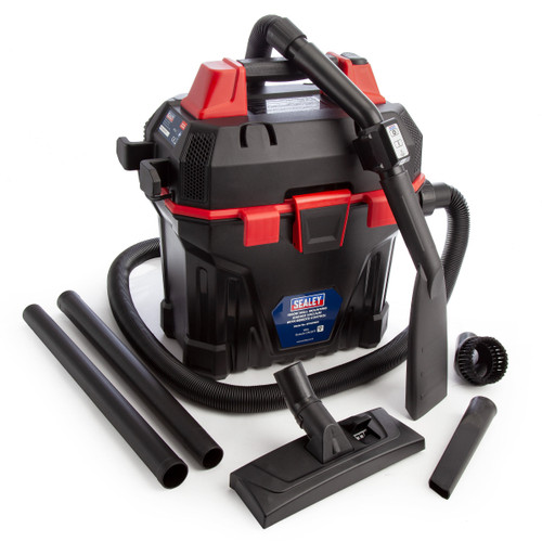 Sealey GV180WM Garage Vacuum 1500w With Remote Control and Wall Mounting 240V - 6