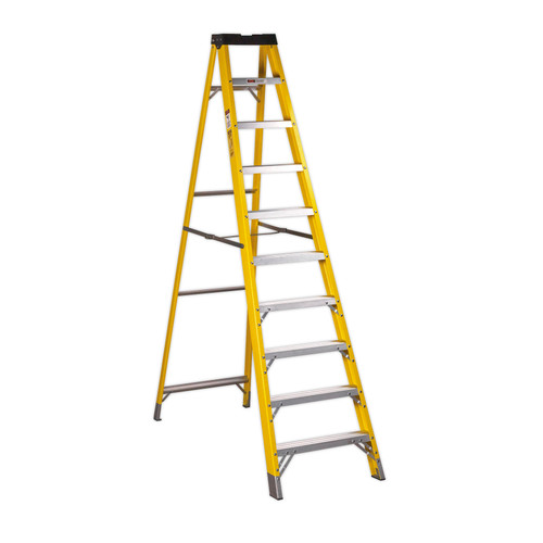 Buy Sealey FSL10 Fibreglass Step Ladder 9-Tread EN 131 at Toolstop