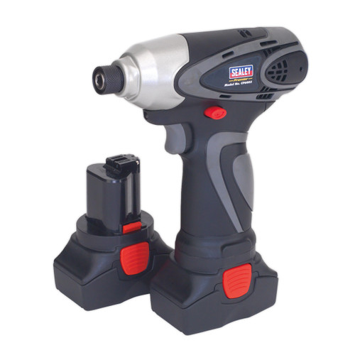 "Buy Sealey CP6003 14.4V Cordless Impact Driver 1/4"" Hex Drive 117nm (2 x 2.0Ah Batteries) at Toolstop"
