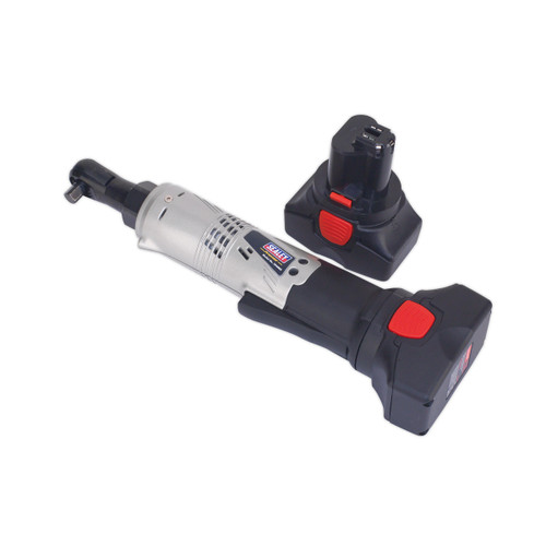 Buy Sealey CP6002 14.4V Cordless Ratchet Wrench 3/8in Square Drive 68nm 4-Pole Motor (2 x 2.0Ah Batteries) at Toolstop