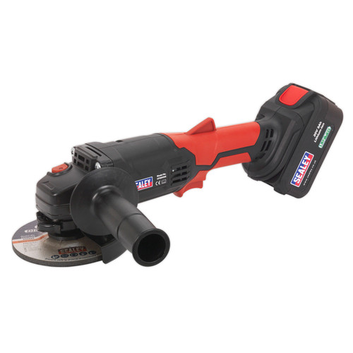 Buy Sealey CP20VAG 20V Cordless Angle Grinder 115mm (1 x 3.0Ah Battery) at Toolstop