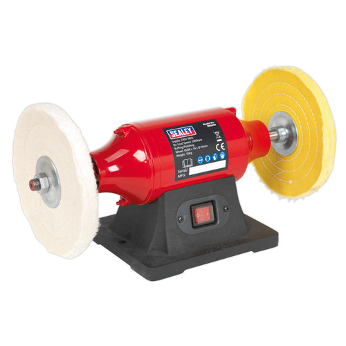 Buy Sealey BB2002 Bench Mounting Buffer/polisher 200mm 550w/240V at Toolstop
