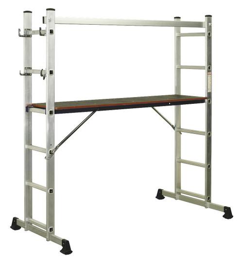 Buy Sealey ASCL2 Aluminium Scaffold Ladder 4-way En 131 at Toolstop