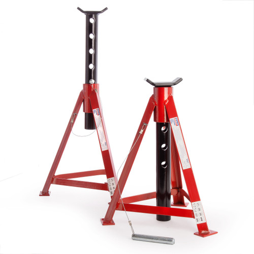 Sealey AS3000 Axle Stands 2.5 Tonne Capacity Per Stand 5 Tonne Per Pair Medium Height