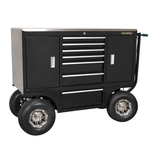 Buy Sealey APPC07 Pit/Yard Cart 7 Drawer Heavy-Duty at Toolstop