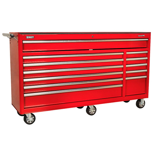 Buy Sealey AP6612 Rollcab 12 Drawer With Ball Bearing Runners Heavy-duty - Red at Toolstop