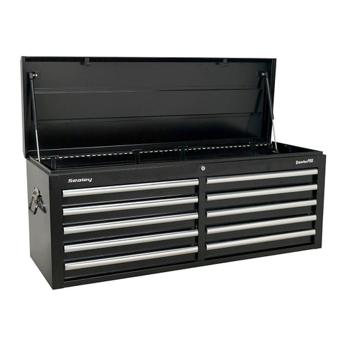 Buy Sealey AP5210TB Topchest 10 Drawer with Ball Bearing Runners - Black at Toolstop
