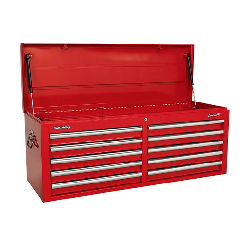 Buy Sealey AP5210T Topchest 10 Drawer with Ball Bearing Runners - Red at Toolstop