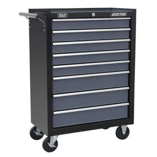 Buy Sealey AP3508TB Rollcab 8 Drawer with Ball Bearing Runners - Black / Grey at Toolstop