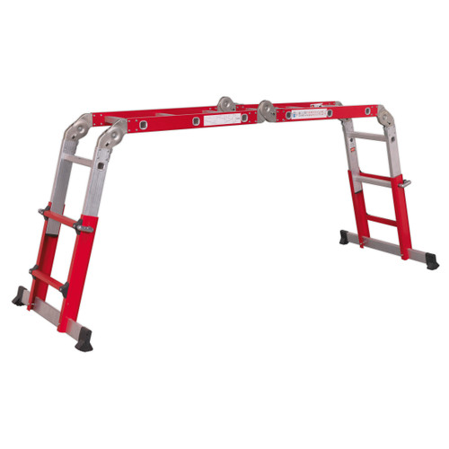Buy Sealey AFPL2 Aluminium Multipurpose Ladder En 131 Adjustable Height at Toolstop