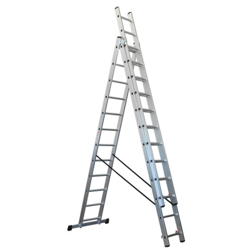 Buy Sealey ACL312 Aluminium Extension Combination Ladder 3x12 En 131 at Toolstop