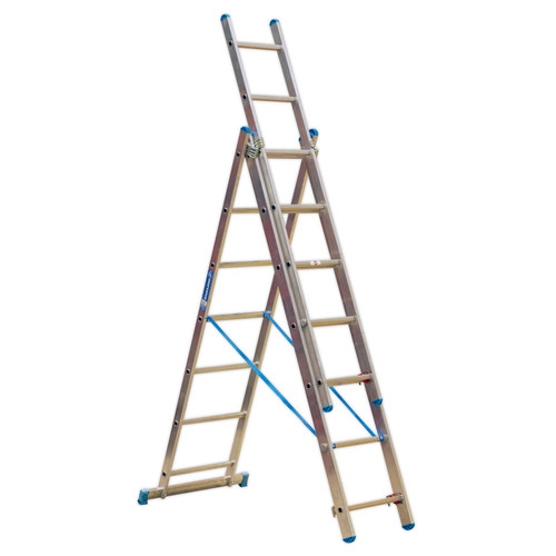 Buy Sealey ACL307 Aluminium Extension Combination Ladder 3x7 En 131 at Toolstop