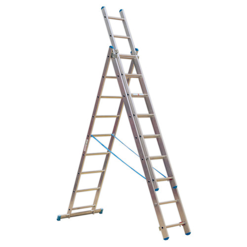 Buy Sealey ACL3 Aluminium Extension Combination Ladder 3x9 En 131 at Toolstop