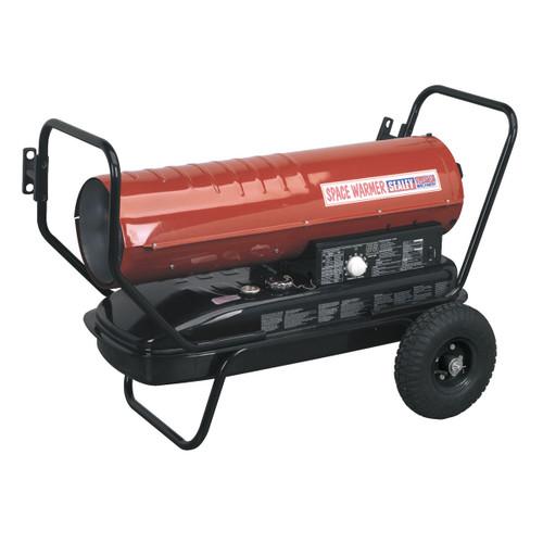 Buy Sealey AB1008 Space Warmer Paraffin, Kerosene & Diesel Heater 100,000btu/hr With Wheels at Toolstop