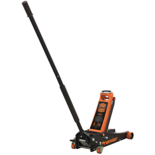 Sealey 3040AO Trolley Jack 3tonne Rocket Lift Orange