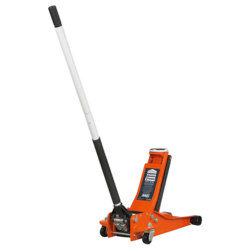Buy Sealey 2001LEOR Trolley Jack 2tonne Low Entry Rocket Lift Orange at Toolstop