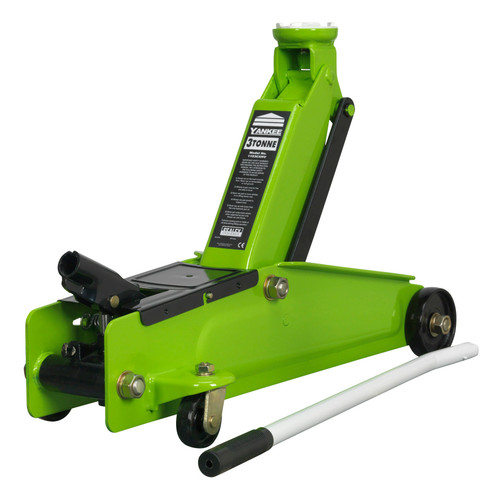 Buy Sealey 1153CXHV Trolley Jack High Visibility 3 Tonne Long Chassis Heavy-Duty at Toolstop