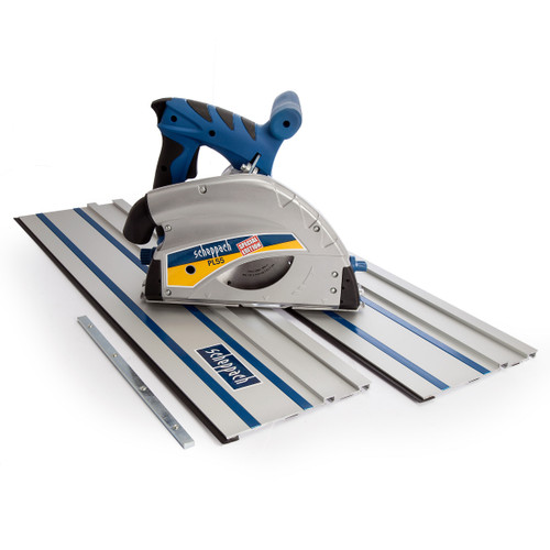 Buy Scheppach PL55 Plunge Saw System 160mm with 2 x 700mm Guide Rails and Rail Connector 240V at Toolstop