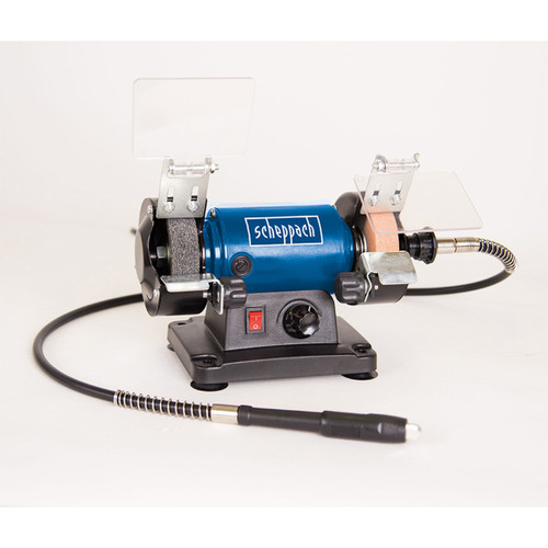 "Buy Scheppach HG34 3"" Bench Grinder C/W Flexi-Drive + Kit 240V at Toolstop"
