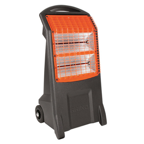 Rhino H029400 Thermoquartz TQ3 Mobile Infra-Red Heater 2 x 1100W Elements 240V - 1