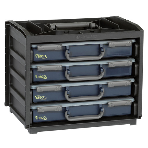 Raaco 136242 Portable Handy Box + 4 A4 Assorters - 2