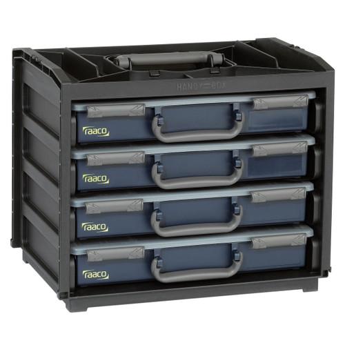 Raaco 136242 Portable Handy Box + 4 A4 Assorters - 2