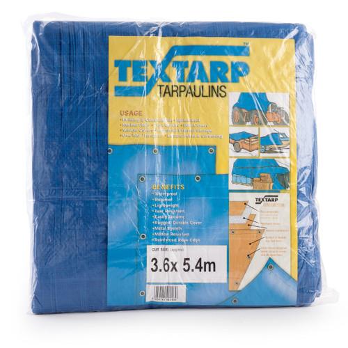 Contractors Tarpaulin Blue/Green 3.6m x 5.4m 90gsm - 3